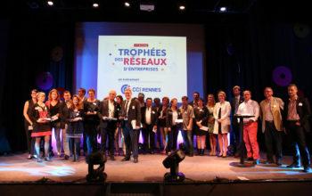 Bernard Cessieux à droite de la scène à la Remise des Prix des Trophées des Réseaux. CCI Rennes 2016