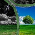 Paysage orageux vs beau temps